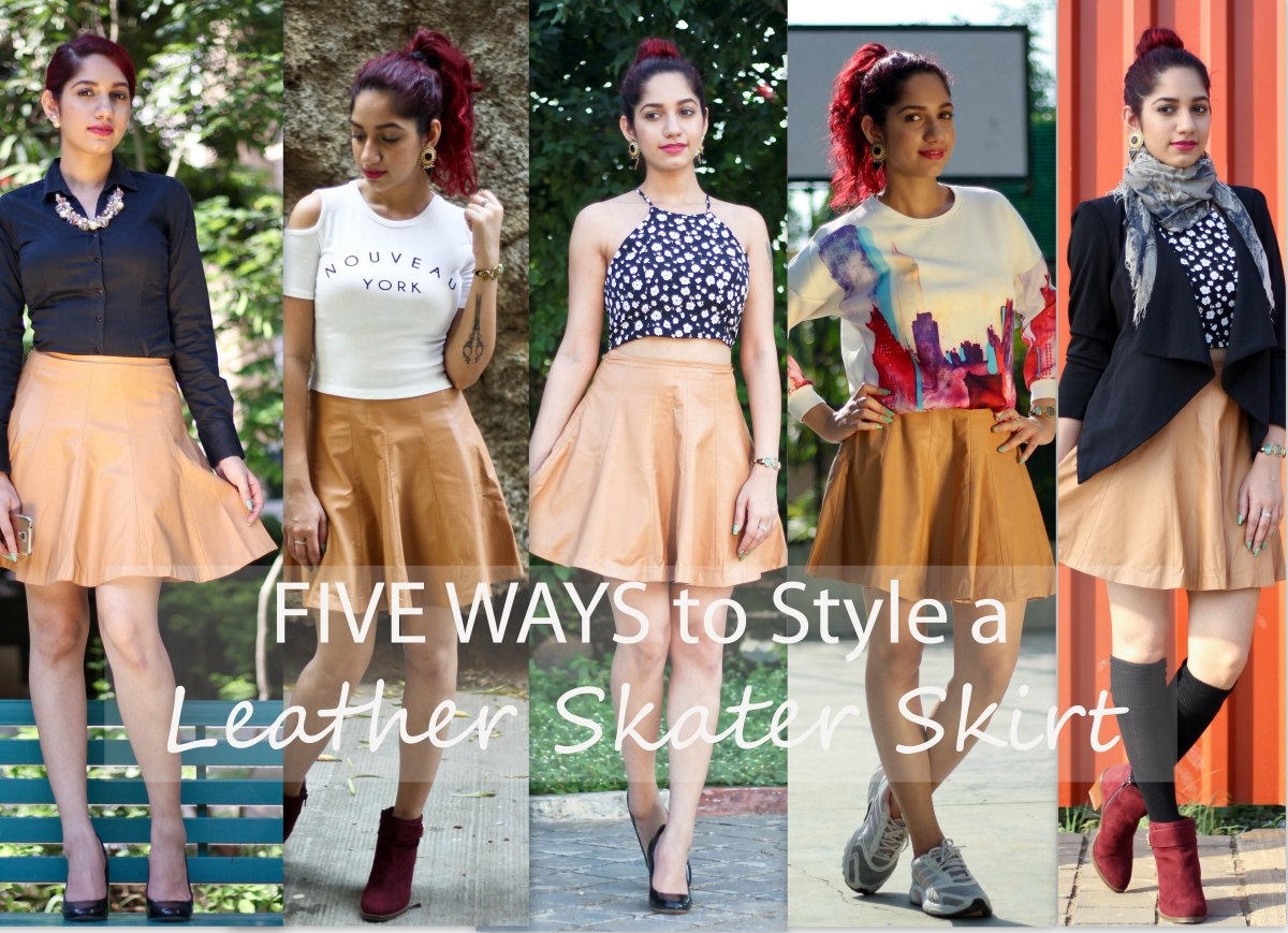 5e61dcae2d44 Five Ways to wear that Leather Skater Skirt| #TSCxWooplr – TheStyleChair