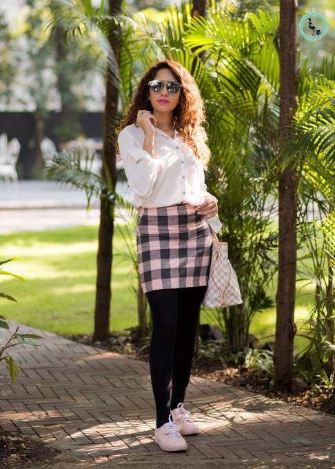 Winter styling am to pm one plaid skirt many ways for Plaid ampm